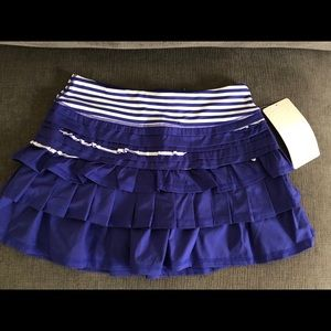 Lululemon Back on Track skirt pigment blue